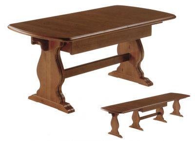 Tavolo allungabile per taverna in legno massello for Arredamento da taverna