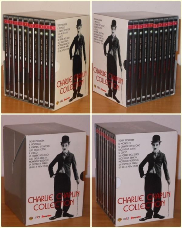 Charlie Chaplin Collection opera completa in 10 DVD.