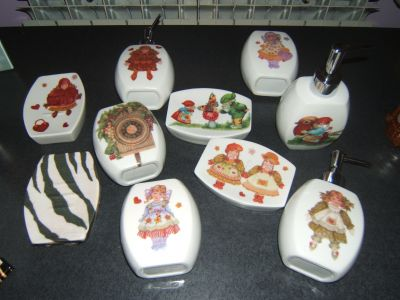 Decoupage idea regalo set 3 pezzi bagno for Idea bagno trento