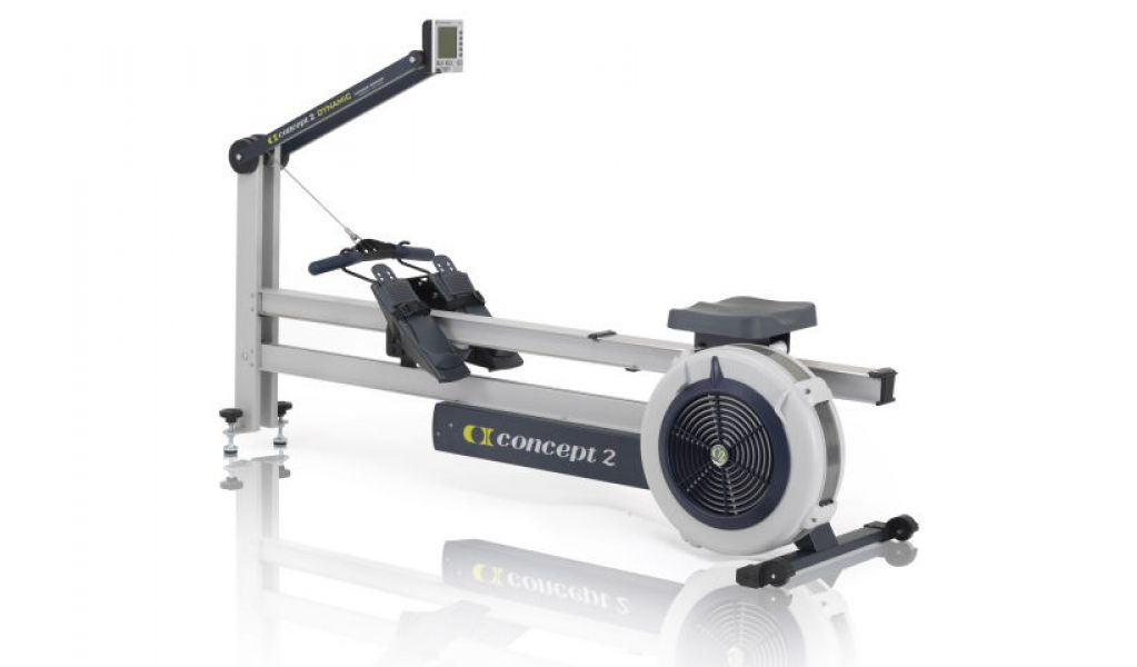 Gray Concept2 Model D Rower Machine-PM5