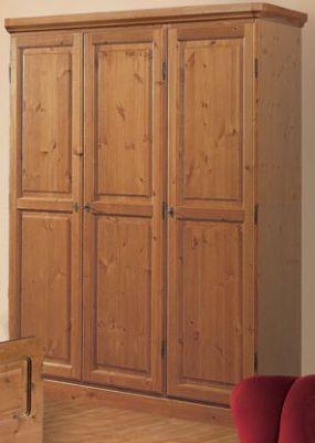 armadio 3 ante massello di pino