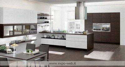 Stosa cucine mod bring in laccato e legno da arredamenti for Mobili cucine teramo