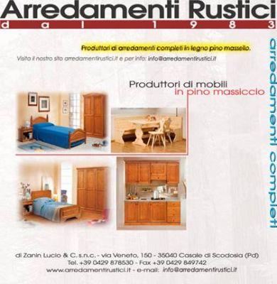 Forniture di mobili rustici in legno massello per alberghi for Vendita mobili rustici
