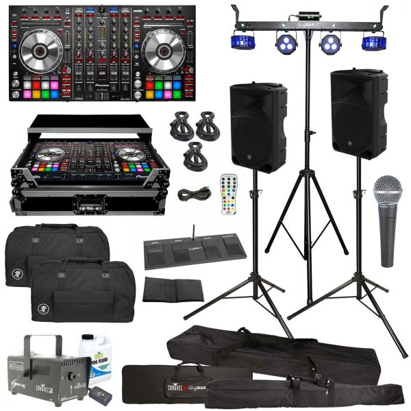 Pioneer DDJ-SX2 Performance DJ Controller & Mackie Thump15 Speakers Pro DJ Gig Package