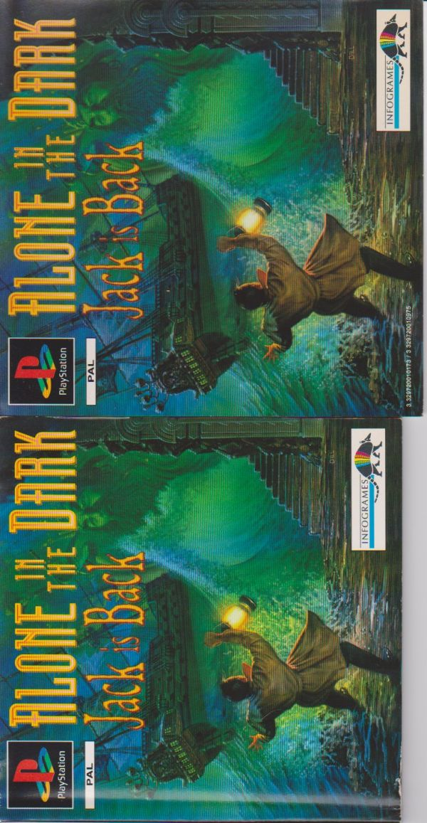 ALONE IN THE DARK Jack is Back PS1 originale completo perfetto
