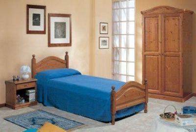 letto singolo in legno massello di pino