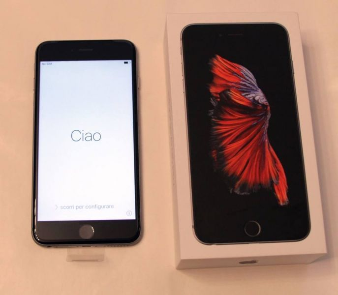 Disponsibile iPhone6s e 6splus e S8 con scontrino