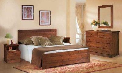 Letto matrimoniale in legno massello - Letto singolo in legno massello ...